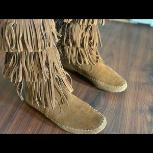 Lauren Conrad fringe boots